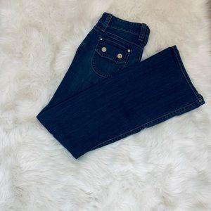 GAP Original Low Rise Flare Cut Button Pocket Jean